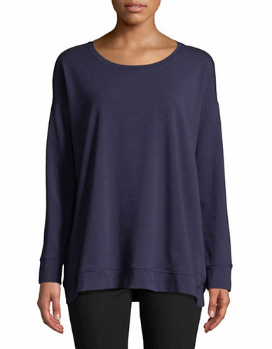 Eileen Fisher Organic Cotton Stretch Jersey Top-MIDNIGHT-Small
