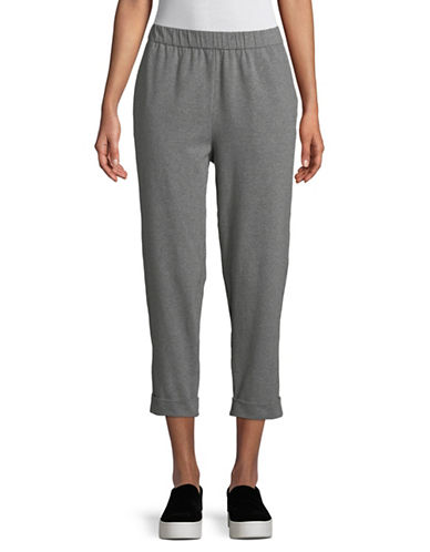 Eileen Fisher Organic Cotton Slouchy Crop Pant-MOON-Small