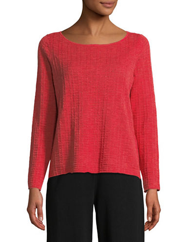 Eileen Fisher Organic Linen Knit Top-STRAWBERY-X-Small