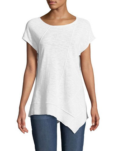 Eileen Fisher Organic Cotton Knit Top-WHITE-Small