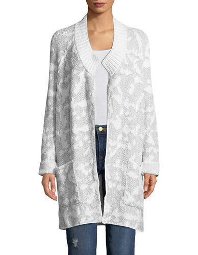 Eileen Fisher Organic Cotton Cardigan-WHITE-Large