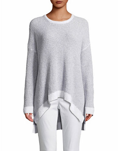 Eileen Fisher Knit Roundneck Pullover-GREY-X-Large