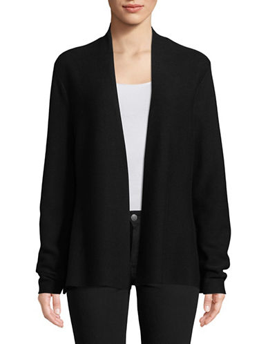 Eileen Fisher Links Cotton Cardigan-BLACK-X-Small