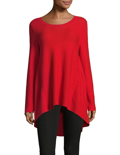 Eileen Fisher Links Cotton Tunic Sweater-LAVA-Large