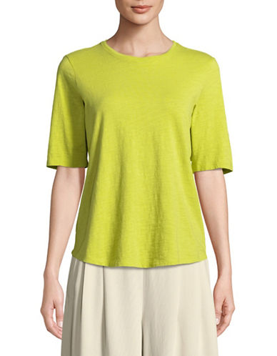 Eileen Fisher Roundneck Top-YELLOW-Small
