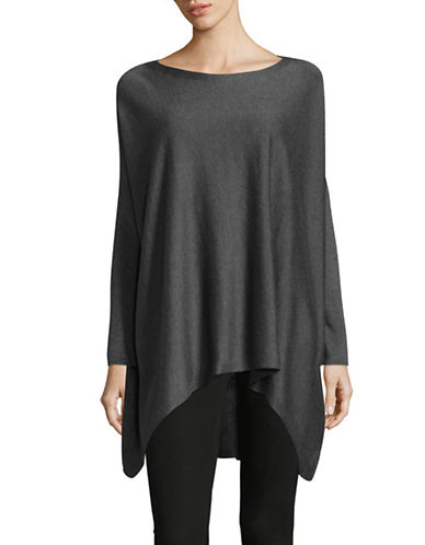 Eileen Fisher Bateau Neck Asymmetric Tunic-ASH-Large
