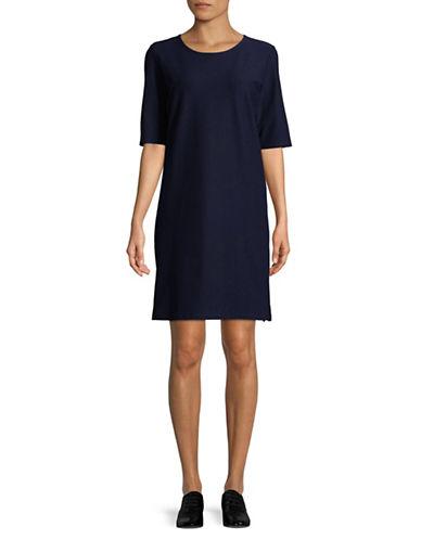 Eileen Fisher Scoopneck Dress-MIDNIGHT-X-Large