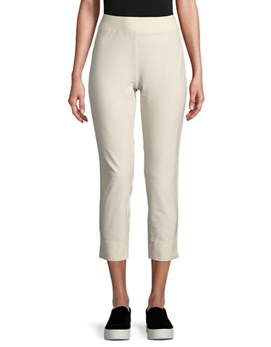 Eileen Fisher Slim Stretch Pants-BONE-Small