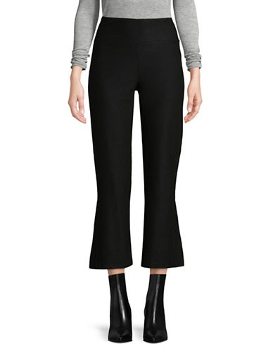 Eileen Fisher Crepe Bootcut Pants-BLACK-X-Small