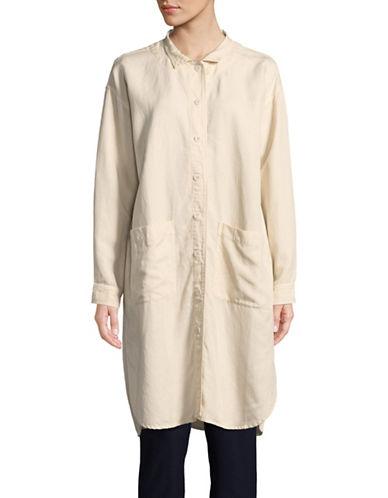 Eileen Fisher Button Down Shirt Dress-BONE-Medium
