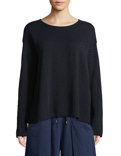 Eileen Fisher Layered Back Top-MIDNIGHT-X-Small