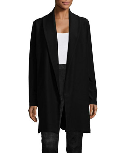 Eileen Fisher Stretch Shawl Collar Jacket-BLACK-Medium