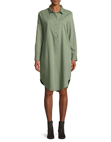 Eileen Fisher Organic Cotton Shirt Dress-GLEN-X-Large