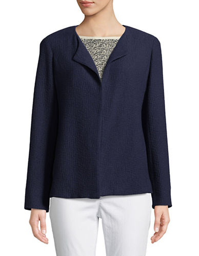 Eileen Fisher Interlock Stitch Stretch Jacket-MIDNIGHT-X-Small