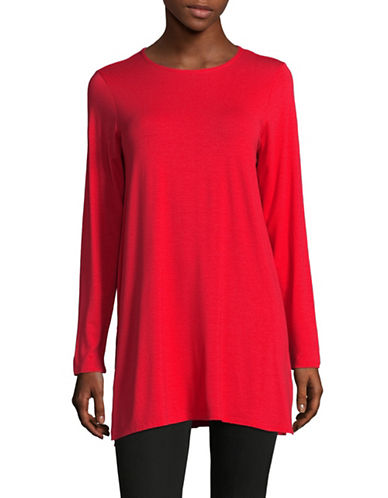 Eileen Fisher Long Jersey Tunic-LAVA-Small