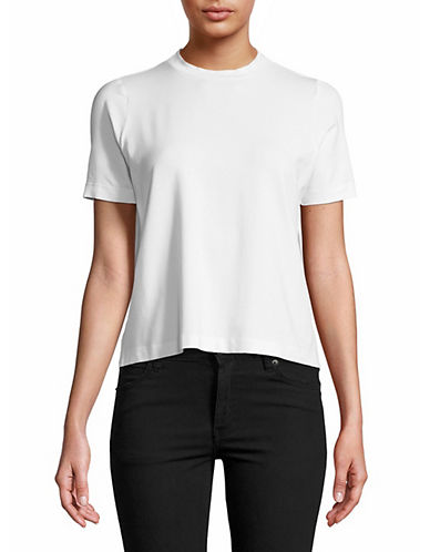 Eileen Fisher Crewneck Tee-WHITE-Medium