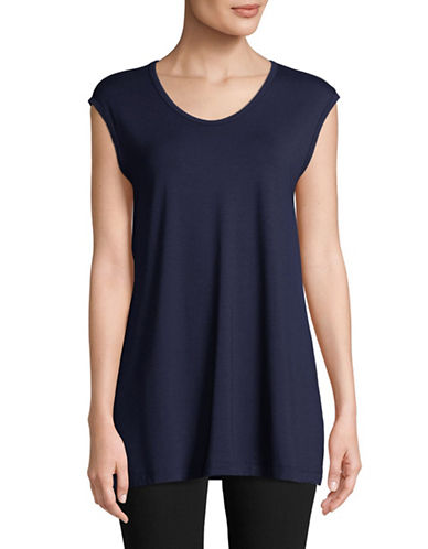 Eileen Fisher Lightweight Sleeveless Top-MIDNIGHT-Large