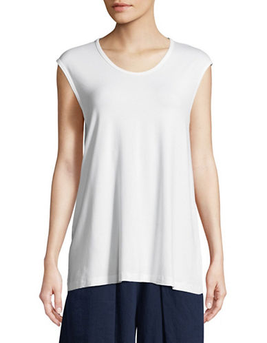 Eileen Fisher Lightweight Sleeveless Top-WHITE-Small