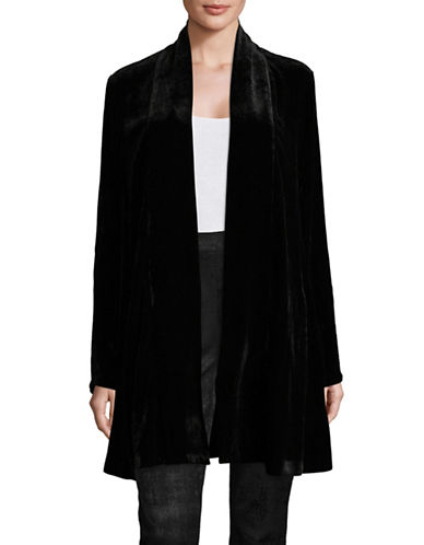 Eileen Fisher Velvet Cardigan-BLACK-Large