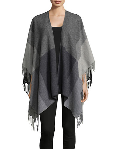 Eileen Fisher Hazy Colourblock Serape-ASH-One Size