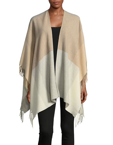 Eileen Fisher Hazy Colourblock Serape-MAPLE OAT-One Size