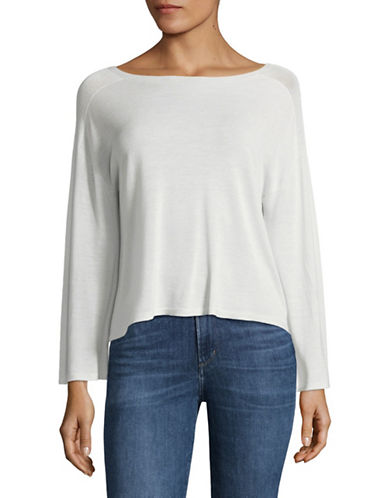 Eileen Fisher Knit Boatneck Top-SOFT WHITE-X-Small