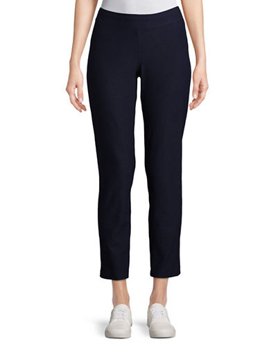 Eileen Fisher Slim Stretch Ankle Pants-MIDNIGHT-Large