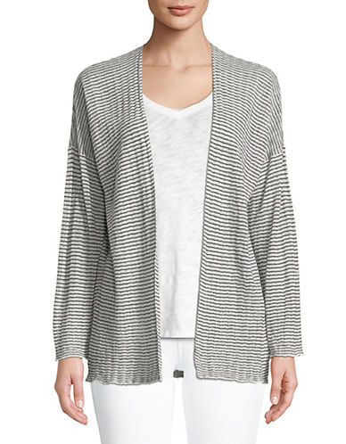 Eileen Fisher Ribbed Stripe Cardigan 90071707
