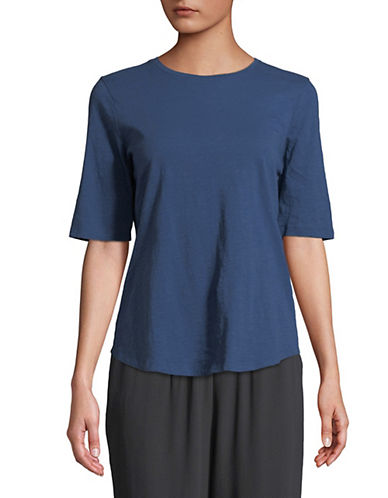 Eileen Fisher Organic Cotton Jersey T-Shirt-BLUE-Large 90071832_BLUE_Large