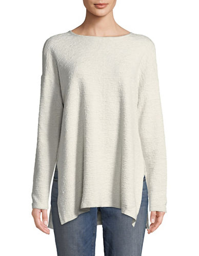 Eileen Fisher Textured Pullover-WHITE-X-Large 90002393_WHITE_X-Large
