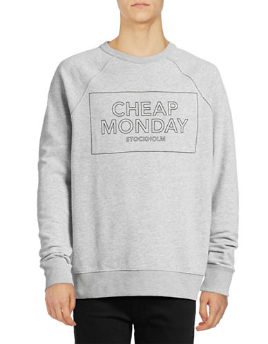 Cheap Monday Rules Logo Sweatshirt-BLUE-Small 88946327_BLUE_Small
