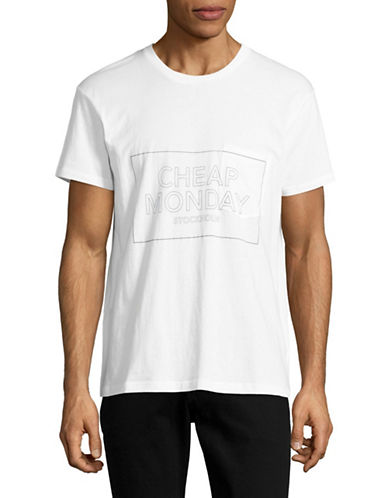 Cheap Monday Standard Logo Pocket Tee-WHITE-Medium 88946333_WHITE_Medium