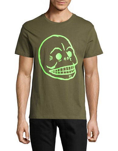 Cheap Monday Standard Skull T-Shirt-GREEN-Medium
