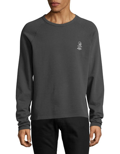 Cheap Monday Rules Skull Sweatshirt-GREY-Medium