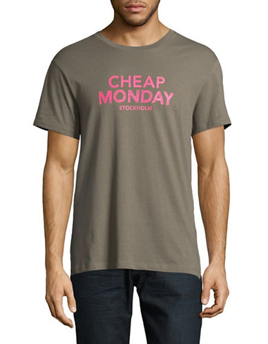 Cheap Monday Doddle Log T-Shirt-BEIGE-X-Large