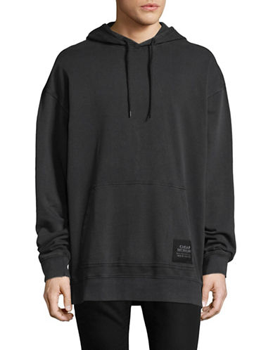 Cheap Monday Organic Cotton Oversized Hoodie-BLACK-Small