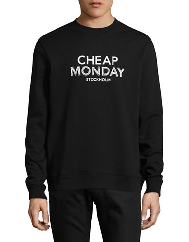 Cheap Monday Doodle Logo Worth Sweater-BLACK-Small