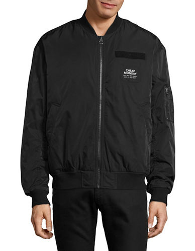 Cheap Monday Ultimate Bomber Jacket-BLACK-Small
