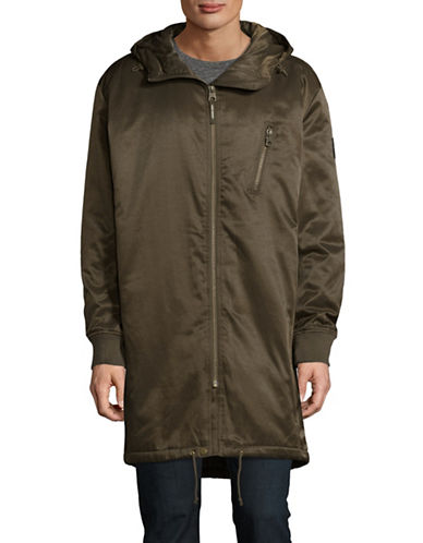 Cheap Monday Alert Hooded Parka-GREEN-Large