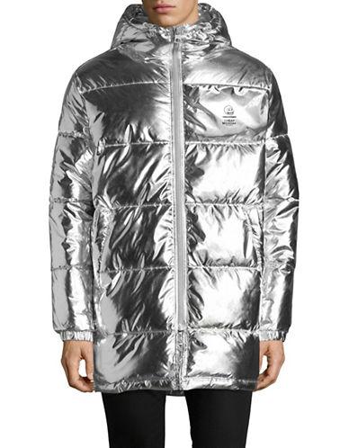 Cheap Monday Metallic Puffer Jacket-SILVER-Small