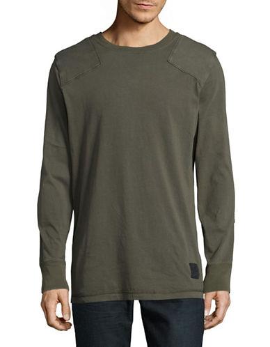 Cheap Monday Paneled Long-Sleeve T-Shirt-GREEN-Small