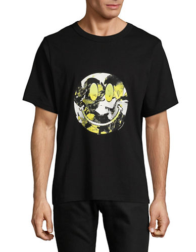 Cheap Monday Smiley Cotton Boxer Tee-BLACK-Large