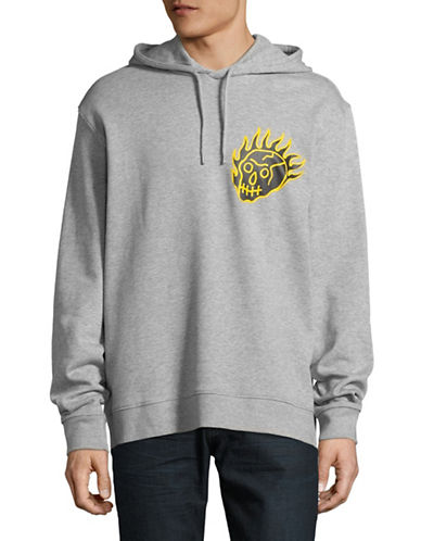 Cheap Monday Lets Go Hoodie-GREY-Large