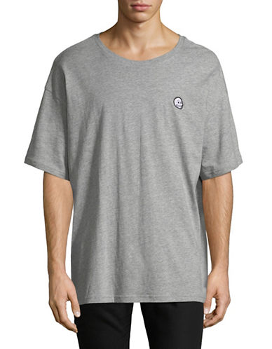 Cheap Monday Squad Cotton Tee-GREY-X-Large