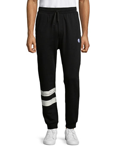 Cheap Monday Move Cotton Sweatpants-BLACK-Large