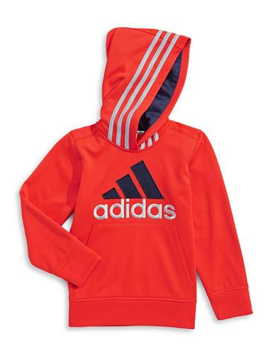 Adidas Classic Logo Hoodie-RED-7 88776690_RED_7