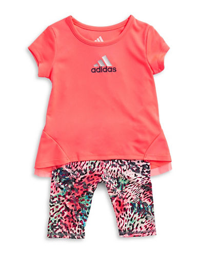 Adidas Printed Capri Two-Piece Set-RED-6 Months