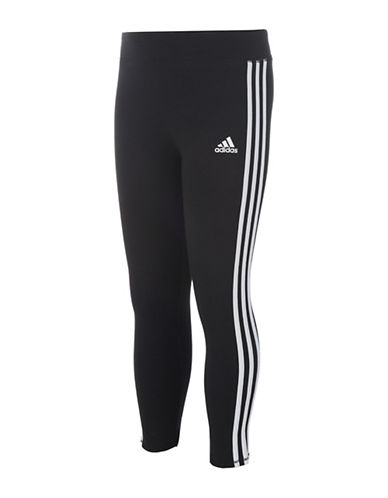 Adidas Three-Stripe Leggings-BLACK-6 89036797_BLACK_6