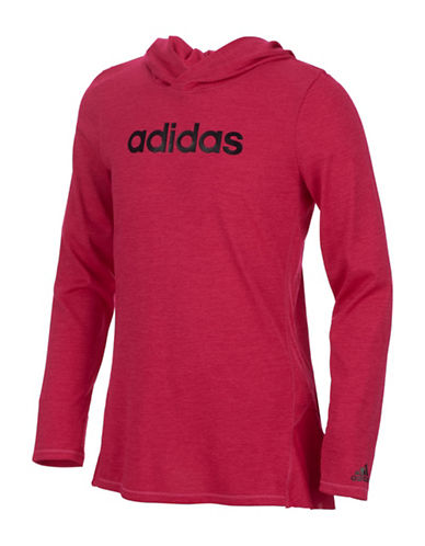 Adidas Hustle Your Bustle Hoodie-PINK-6X