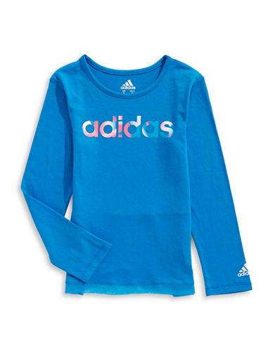 Adidas Criss Cross T-Shirt-BLUE-6X